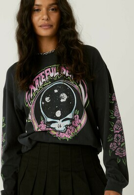 Daydreamer Women's Grateful Dead Space Face Oversized Long Sleeve
