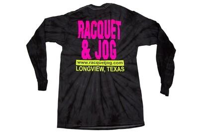 Racquet & Jog Long Sleeve Old School Fashion Tie Dye Tee