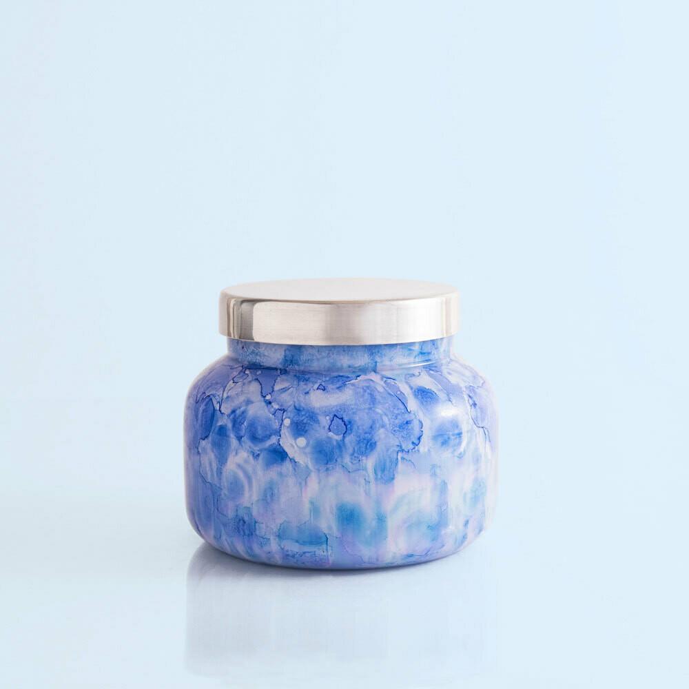 Capri Blue 19 oz Watercolor Signature Jar Candle- Blue Jean
