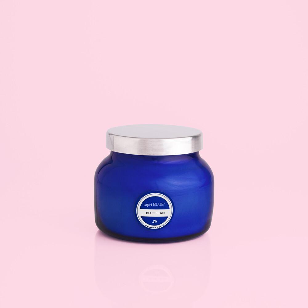 Capri Blue 8 oz Petite Jar Candle- Blue Jean