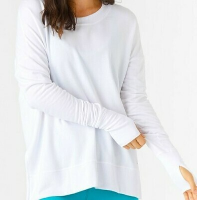 Glyder Women's Long Sleeve Solid Lounge Top