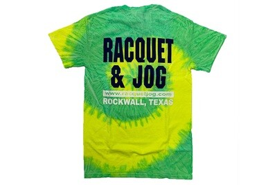 Racquet & Jog Old School Fashion Tie Dye Tee