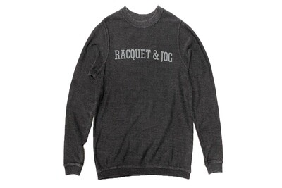 R&J Statement Pullover Cozy Black Crewneck Fleece