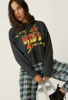 Daydreamer Women's The Return of KISS Shrunken Hoodie