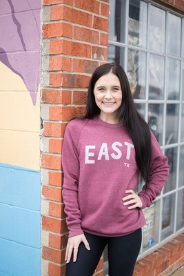 Brands and Threads East Texas Lettered Crewneck