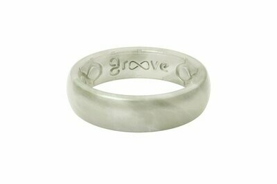 Groove Ring Thin Solid Pearl