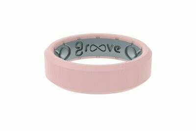 Groove Ring Edge Thin Rose Quartz