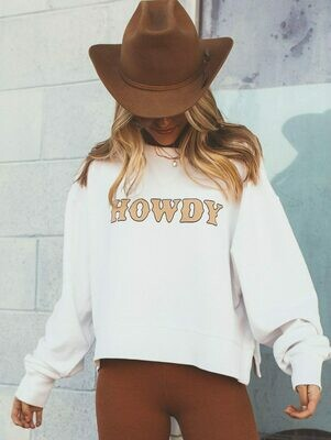 Charlie Southern Howdy Cropped Corded Crew