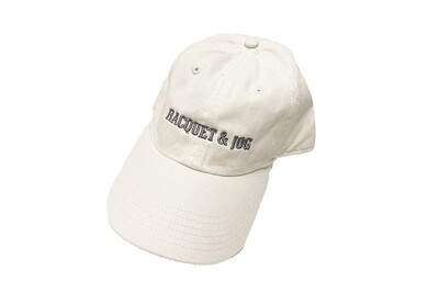 Racquet and Jog Statement Hat -  White