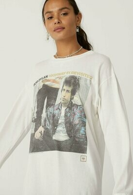 Daydreamer Women's Long Sleeve Bob Dylan Highway 61 Oversized Tee