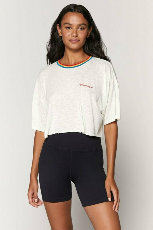 Spiritual Gangster Women's Solstice Cropped Tee
