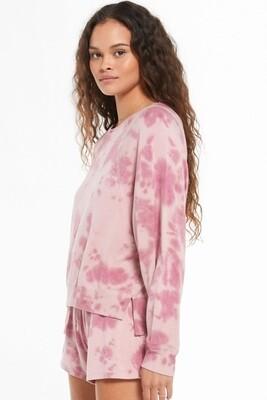 Z Supply Long Sleeve Sleep Over Tie Dye Top