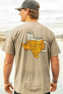 Burlebo Tied To Tex  Men's Drink Locally Tee