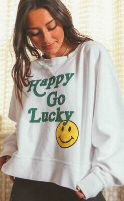 Friday + Saturday Go Lucky Cropped Corded Crew