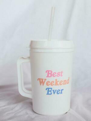 Friday + Saturday 34oz Best Weekend Ever Mug