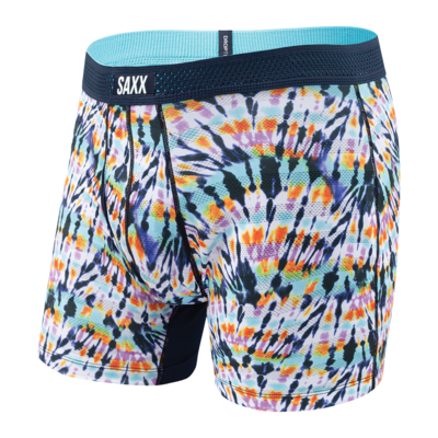 SAXX Hot Shot Boxer Brief- Multi Tidal Wave
