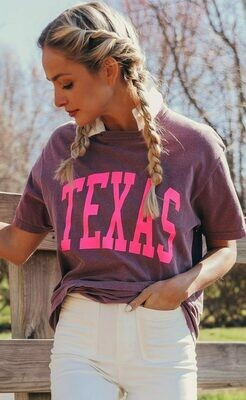 Charlie Southern Short Sleeve Neon Texas Tee