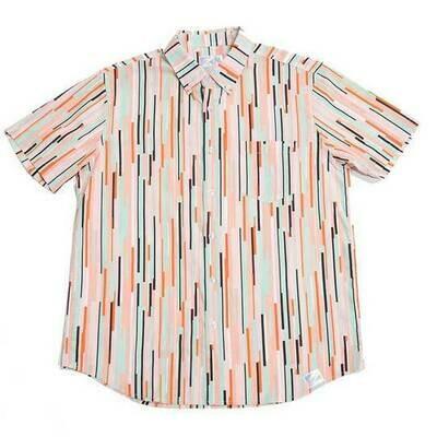 Bermies Men's African Stripes Button Down Shirt