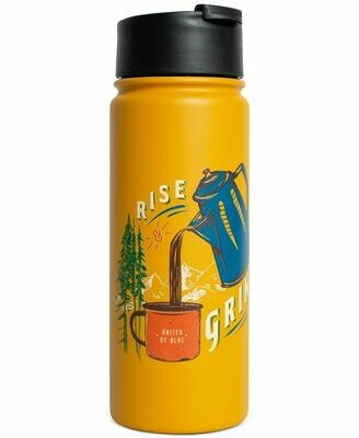 United By Blue Rise and Grind 18oz Travel Bottle