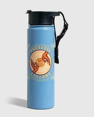 United By Blue Protect And Preserve 22oz Stainless Steel Bottle