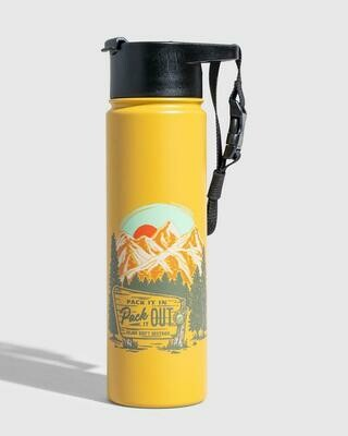 United By Blue Pack It Out 22oz Stainless Steel Bottle