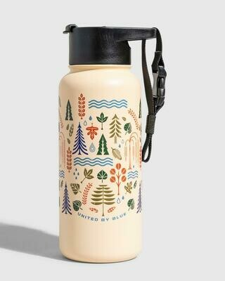 United By Blue Funky Forest 32oz Stainless Steel Bottle