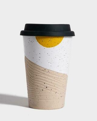 United By Blue 12oz Ceramic Mug With Silicone Lid