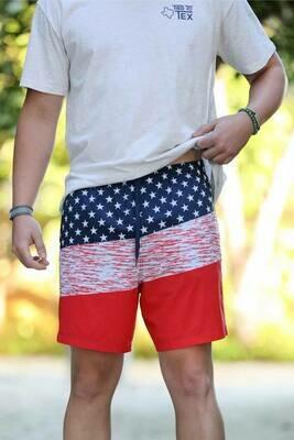 Burlebo Men's Swim Short- American Flag