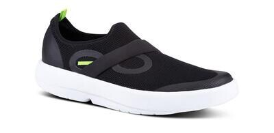 Oofos Men's OOmg Low- Black and White