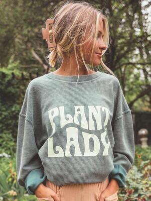 Friday + Saturday Plant Lady Corded Crew