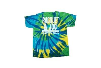 Racquet & Jog Old School Fashion Youth Tie Dye Tee