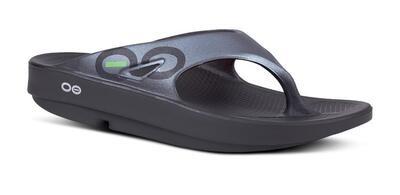 Oofos Original Sport Sandal - Black Graphite
