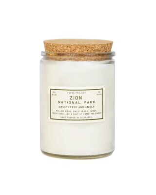 Parks Project Zion Candle - Sweetgrass and Amber