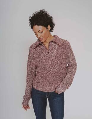 The Normal Brand Women's Dani Quarter Zip Sweater