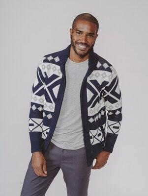 The Normal Brand Men's Nordic Full Zip Cardigan