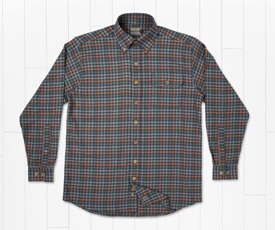 Southern Marsh Men's Long Sleeve Boothville Flannel Button Down