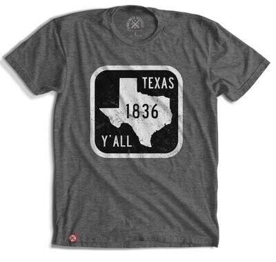 Tumbleweed Texstyles Texas Y'all Road Sign Tee