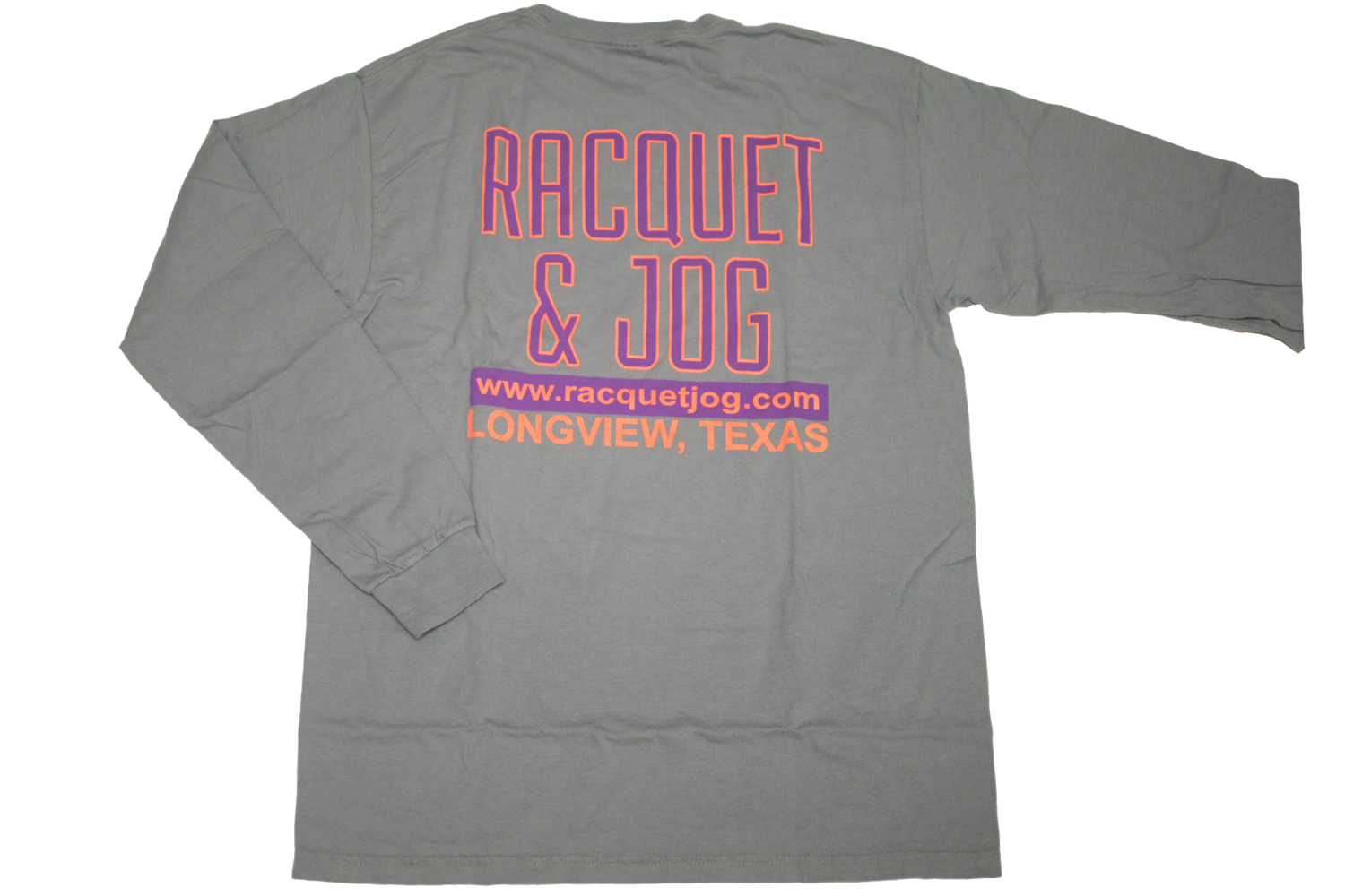 Racquet & Jog Old School Print Retro Long Sleeve Tee