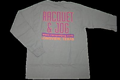 Racquet & Jog Old School Print Retro Long Sleeve Youth Tee