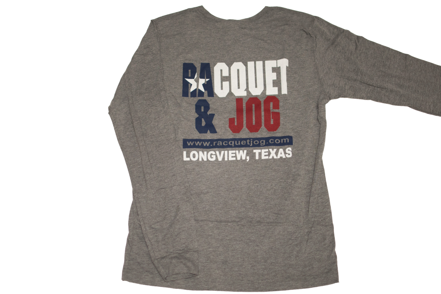 Racquet & Jog Old School Print TX Flag Long Sleeve Tee