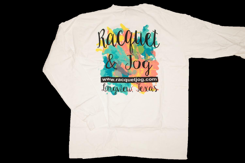 Racquet & Jog Specialty Color Logo Long Sleeve Tee