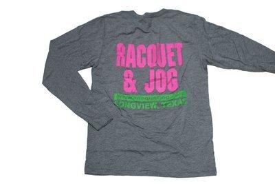 Racquet & Jog Old School Fashion Track Long Sleeve Tee