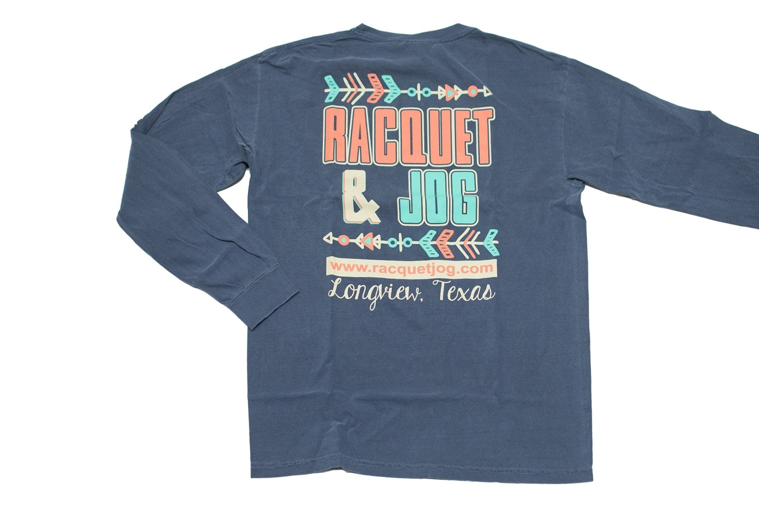Racquet & Jog Old School Print Arrow Long Sleeve Tee