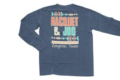 Racquet & Jog Old School Print Arrow Long Sleeve Youth Tee