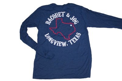 Racquet & Jog Specialty Texas Outline Track Long Sleeve Tee
