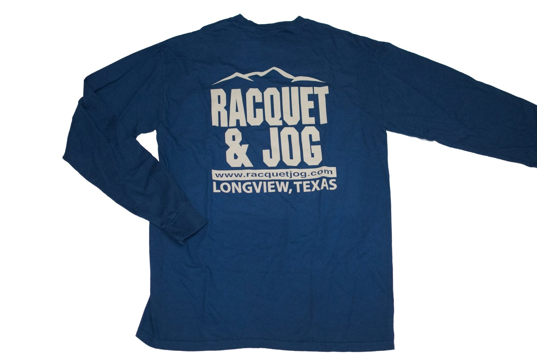 Racquet & Jog Old School Print Mountain Peak Long Sleeve Tee