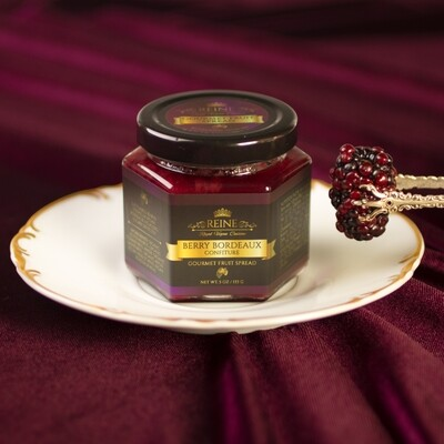 Berry Bordeaux Confiture All-Natural Gourmet Fruit Spread-NO Sugars, NO Pectins