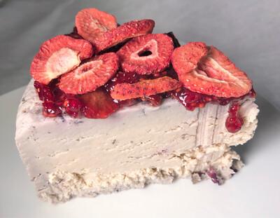 LIMITED RELEASE Raspberry 10 oz Vegan Cheese Wedge