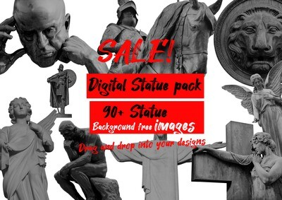 Digital statue pack 90+ images