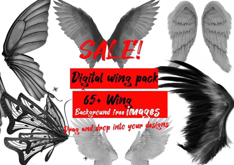digital wing pack 65+ black and grey